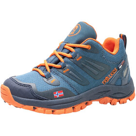 TROLLKIDS Rondane Hiker Low Shoes Kids, blauw/oranje